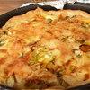 Открытый пирог с зеленью и сыром