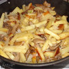 Вешенки с картошкой в сметане