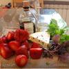 Клубника с сыром с плесенью