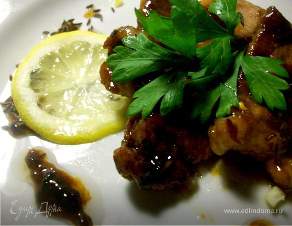 Божественная свинина в лимонно - тминном соусе