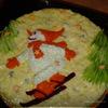 """Закусочный торт """"Снежные виражи"""""""
