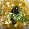 Солянка рыбная с расстегаями