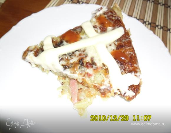 Ленивая картофельная пицца