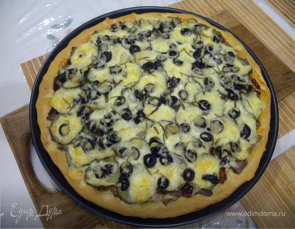 Пицца (тесто без дрожжей)