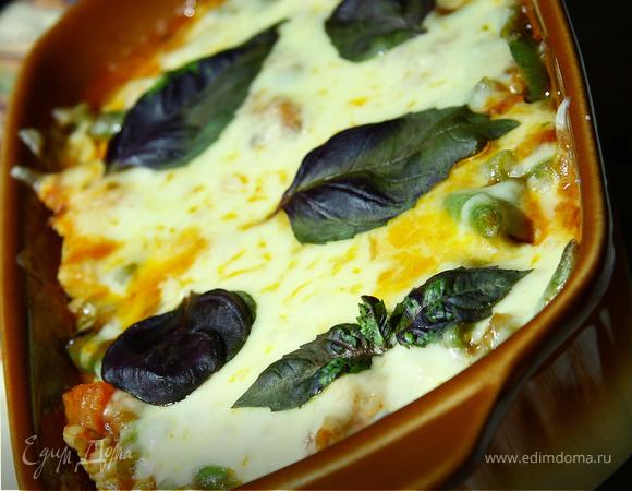 Филе грудки индейки, запеченое с овощами