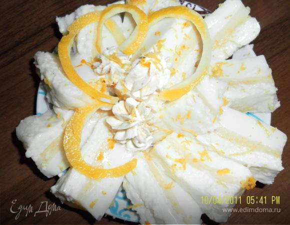 молочно-лимонное желе