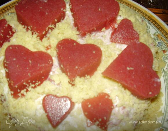"""Торт """"Для моих любимых сердец!"""""""