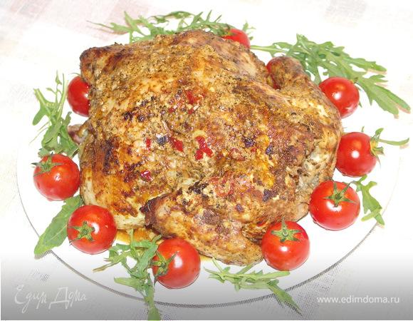 Курица маринованная в кефире с пряными травками.