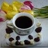 Кофе с миндалём и кофейные зёрнышки в шоколаде