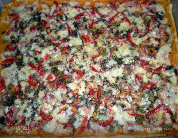 Пицца и пирожок