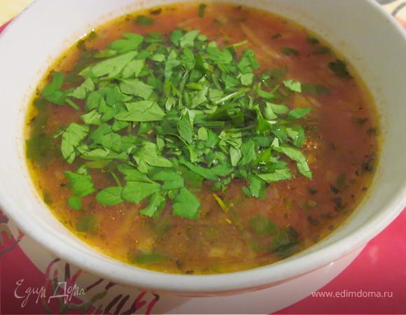 """""""Минестроне"""" классический овощной суп (меню итальянского обеда № 1)"""
