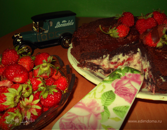 """Шоколадно-клубничный торт """"Сон в летнюю ночь"""""""