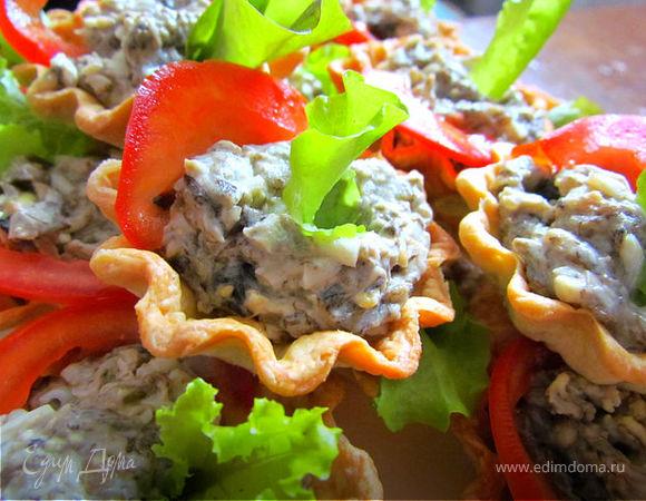 Тарталетки с грибной начинкой!