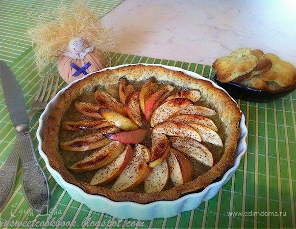 Медовый Спас: Маковый пирог с яблоками и медом