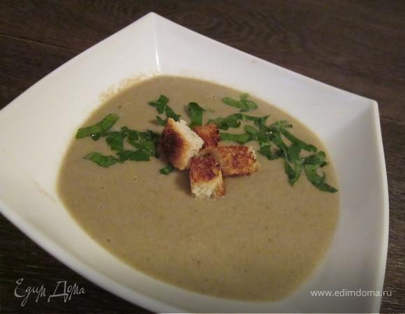 Постны суп-крем из шампиньонов с кокосовым молоком