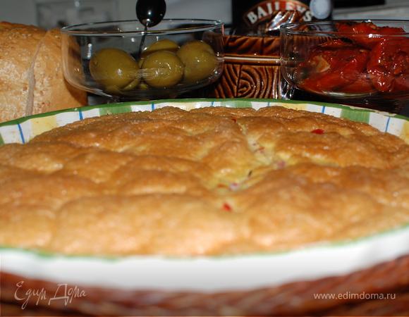 Сырно-овощной омлет в духовке