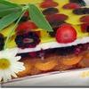 Желейный торт с ягодами и шоколадной крошкой