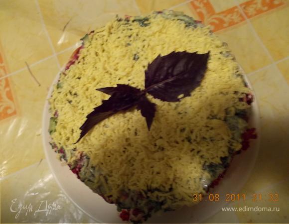 """Салатный торт """"Закусочный"""""""