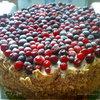 """Торт """"Брусничная поляна"""" для Оленьки и Светочки"""