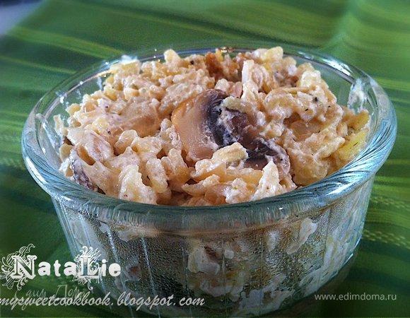 Очень вкусный рис с грибами