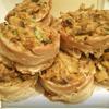 Тарталетки из бекона с грибами.