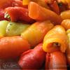 Рулетики из печёного перца с начинкой из курицы и баклажана