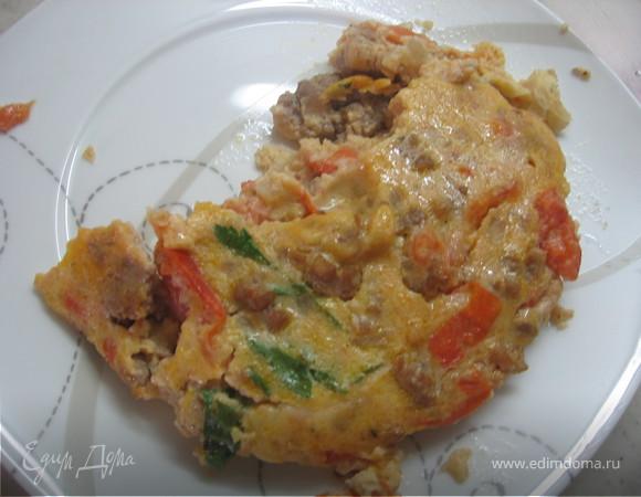 Яичная запеканка с мясом