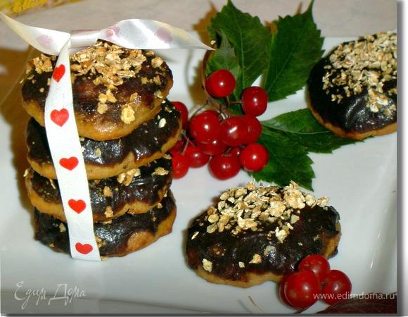 Мягкое печенье с бананом и творогом