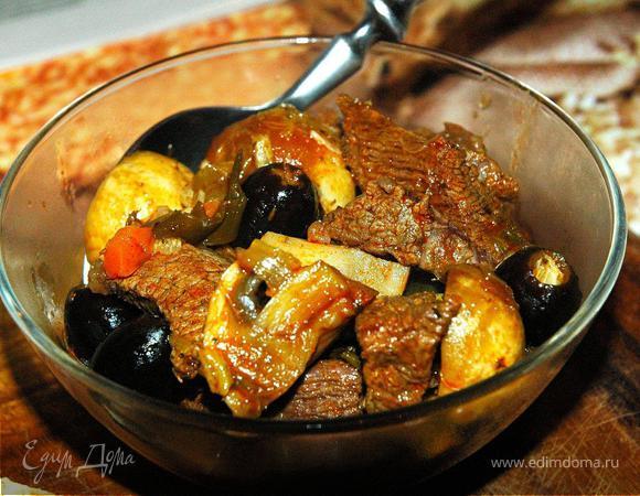 «November Rain» - Жаркое из говядины с грибами и овощами
