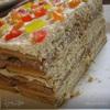 Творожный торт из печенья
