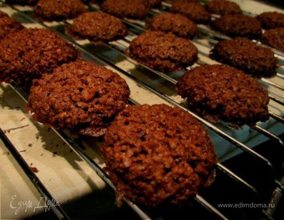 Овсяное печенье с шоколадом и кокосом