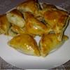 Слоеные пирожочки с домашним печеночным паштетом