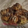 Профитроли или Заварное пирожное с заварным кремом на белом шоколаде..