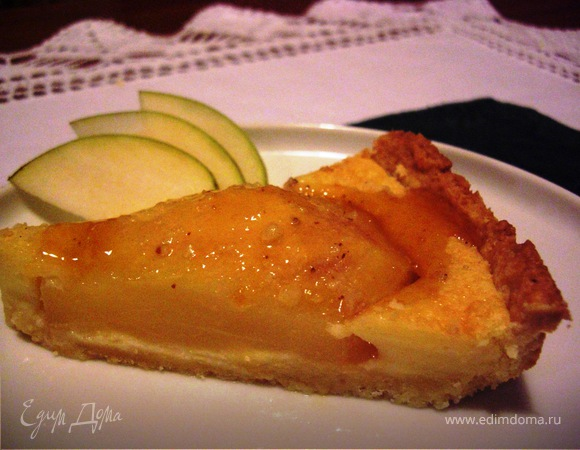 Рецепт пирога с маскарпоне и яблоками