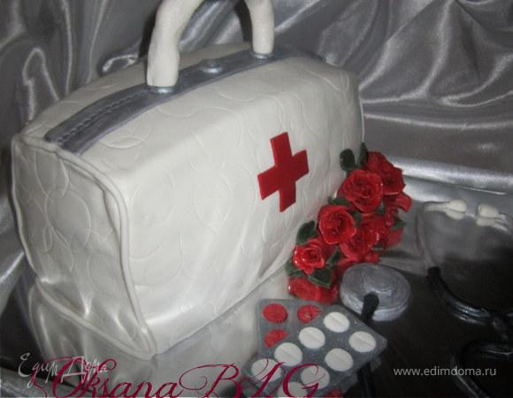 """Торт """"Для людей, которые спасают наши жизни"""""""