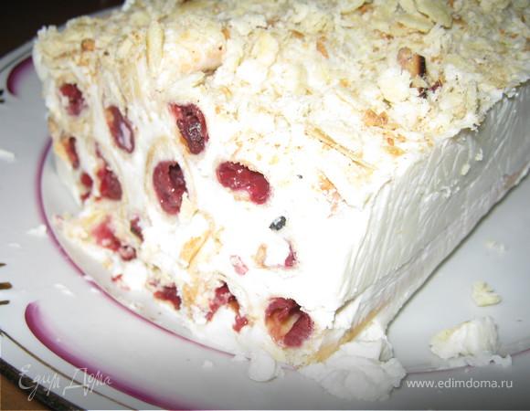 Торт вишневый с кремом баваруа
