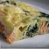 Фриттата с лососем и шпинатом