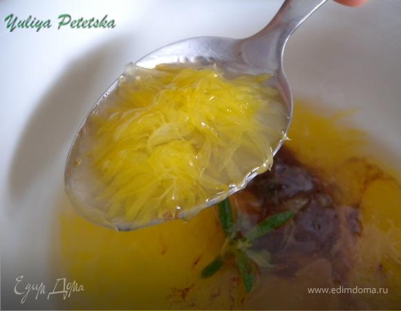 Цитрусовый суп с манным пудингом :-)