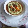 Томатный суп с мидиями и сливочным кремом