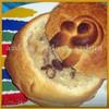 Грибной суп со сливками и сыром в хлебных горшочках-мешочках