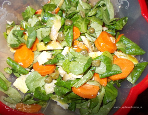Салат из моркови с корном