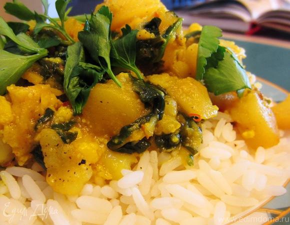 Алу Гоби - постное индийское блюдо