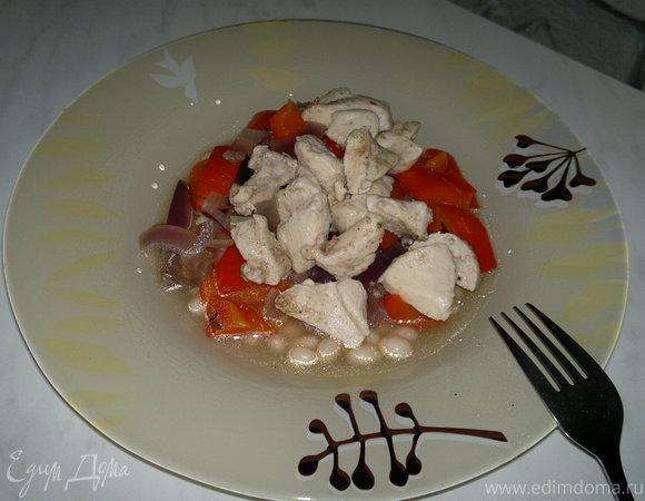 Похлебка с белым куриным мясом