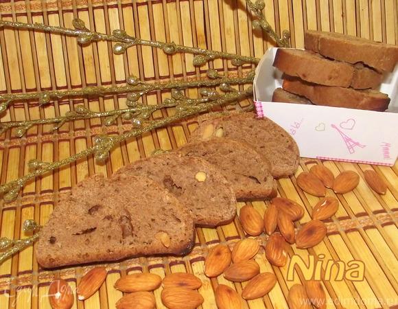 Бискотти с орехами и белым шоколадом