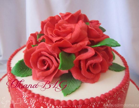 """Торт """"Красные розы"""""""
