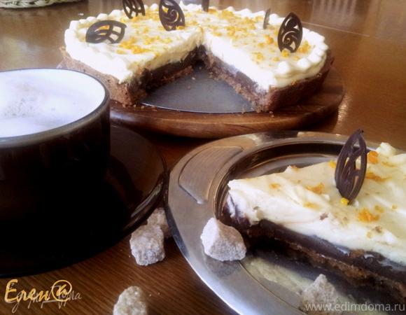 Пирог со сливочным кремом и шоколадом