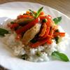 Соте из курицы с овощами и мятой