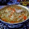 Куриный суп с домашней лапшой (По мотивам узбекской кухни)