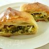 Пирог с зеленью и сыром из слоеного творожного теста для Светланы Горбуненко