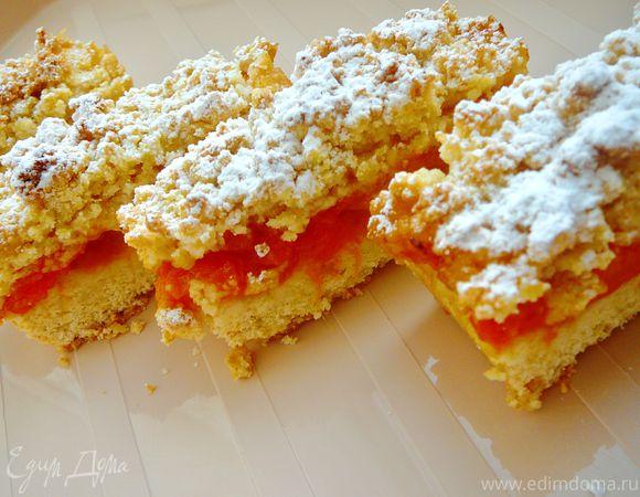 Абрикосовые пироги (Apricot crumb bars)